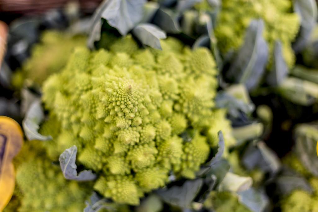 romanesco cauliflower at the market