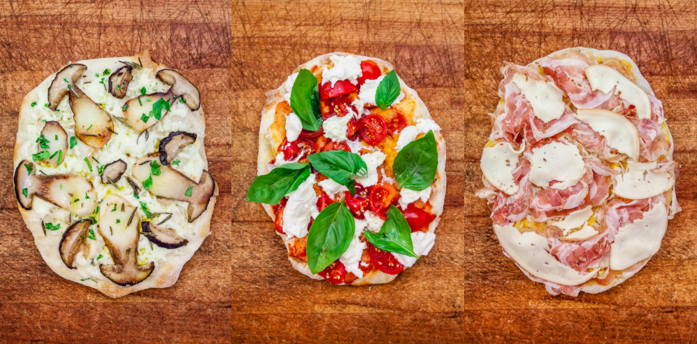 Pinsa Romana a type of oval pizza