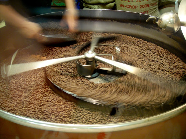 Coffee roasting in Rome