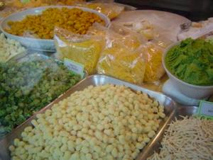 Pasta display at Gargani in Rome