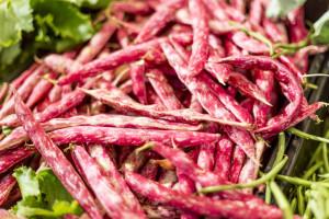 fresh beans in Italian market
