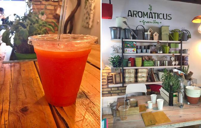 Aromaticus juice bar in Rome