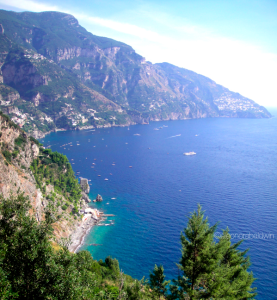 The beaches of Positano