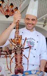 chef Andrea Ruggiero of Buca di Bacco, Positano