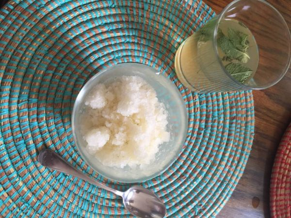 cucumber granita with homegrown cuckes