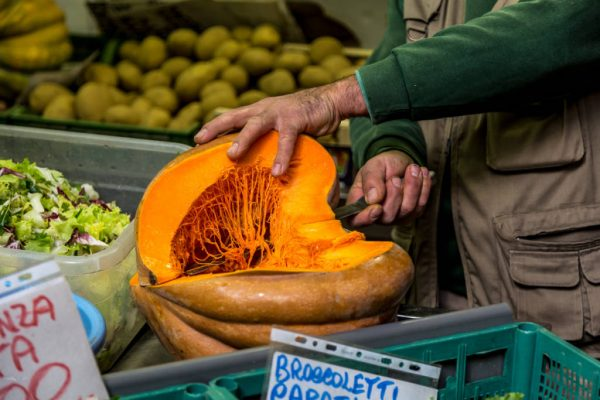Pumpkin in season in Italy