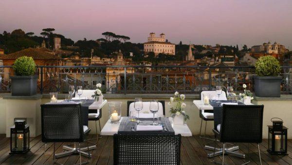 All'Oro romantic restaurant in Rome
