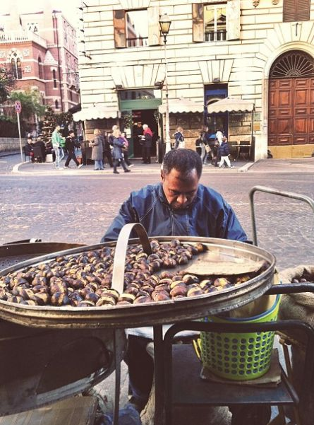 it's chestnut season in Italy!