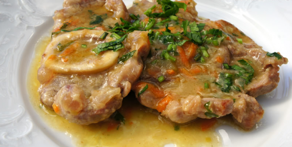 Ossobuco, bone marrow veal stew