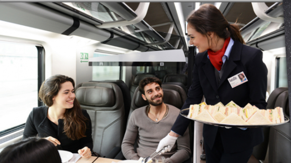 food on Italian trains