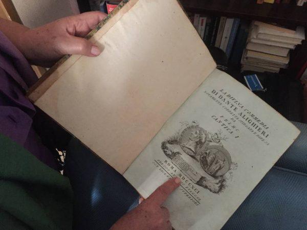 Anna owns a very old copy of La Divina Commedia · www.italyfoodandwinetours.com