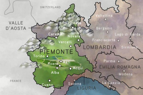 Piemonte in northern Italy · www.italyfoodandwinetours.com
