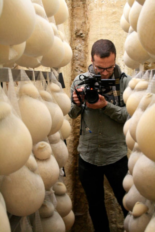 filming caciocavallo in irpinia