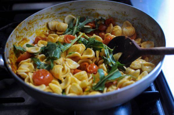 orecchiette with ciliegino tomatoes