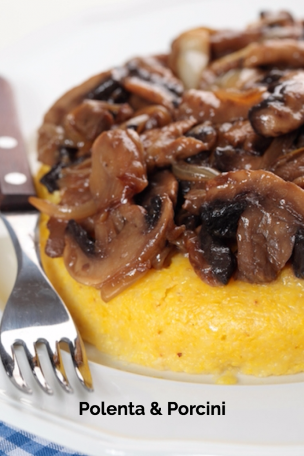 polenta and porcini mushrooms