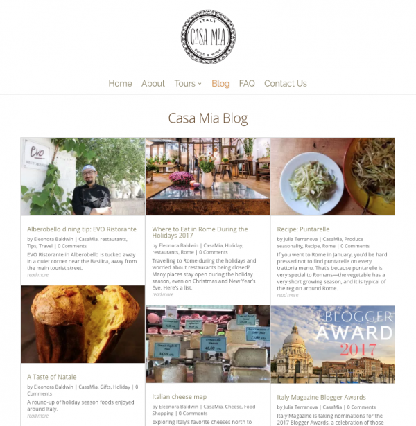 Vote for Casa Mia Italy Magazine Blogger Awards