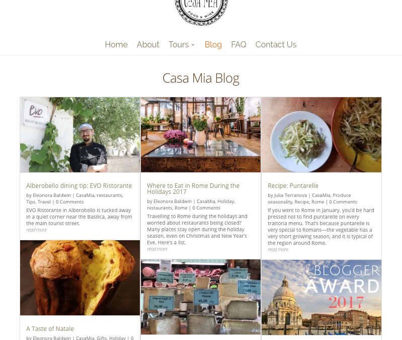Casa Mia shortlisted for Italy Magazine Blogger Awards!