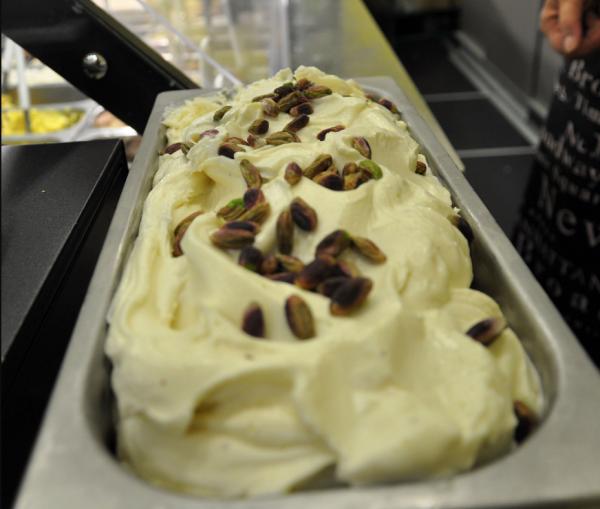 Pistachio gelato at Al Settimo Gelo, Rome