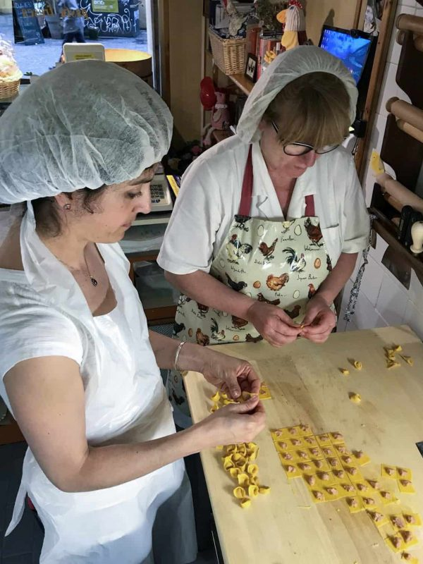 Making tortellini in Bologna