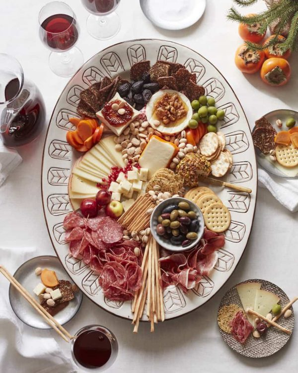 12 days of christmas holiday cheese board