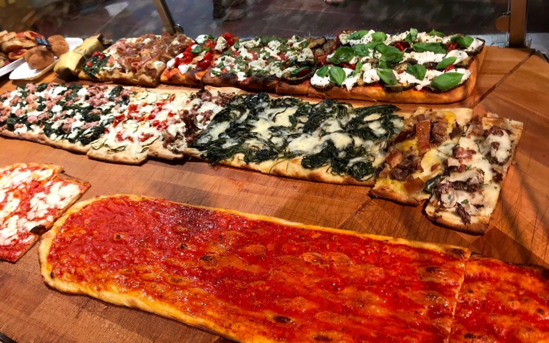 Pizza alla pala, a Rome specialty