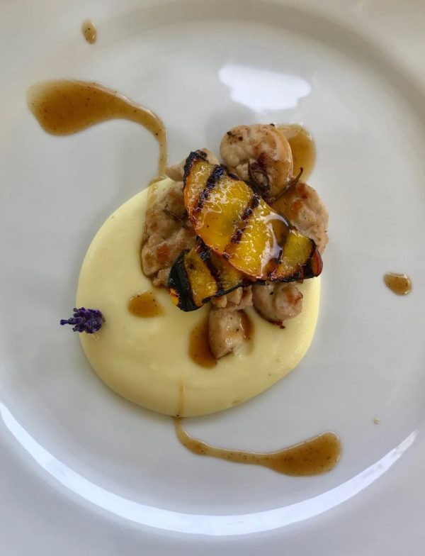 grilled sweetbreads at Hosteria da Amedeo