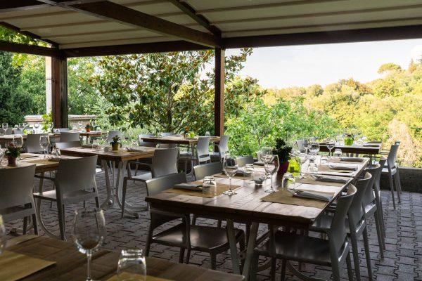 the patio at Hosteria da Amedeo