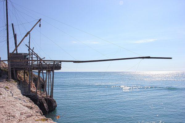 "Trabucchi fishing ""machines"" Salento"