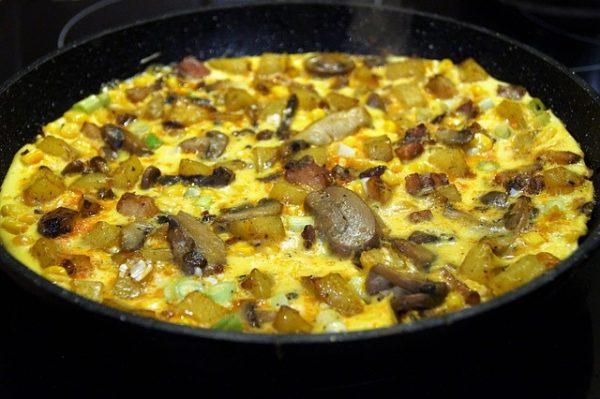 italian mushrom recipes: frittata