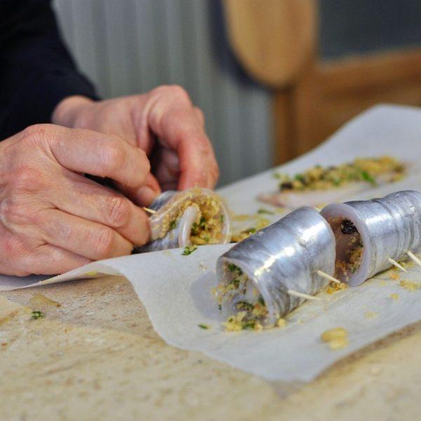 making scabbardfish involtini
