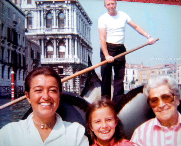 nonna Titta, Mom and I in Venice