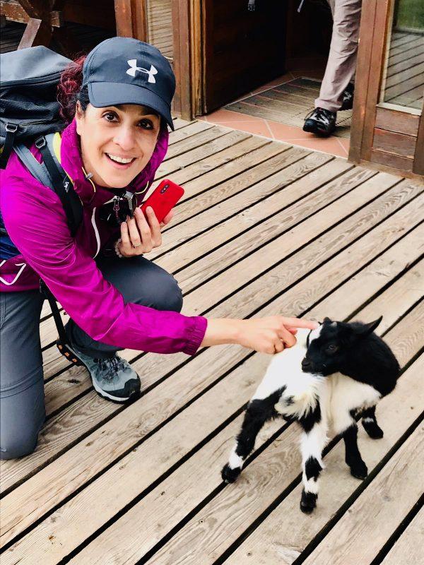 Gina and baby goat
