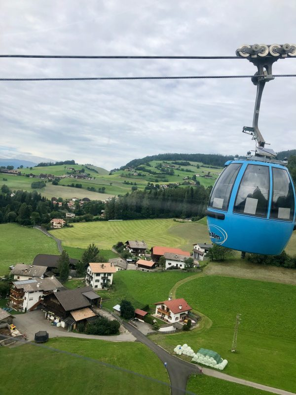 chairlift in the Dolomites