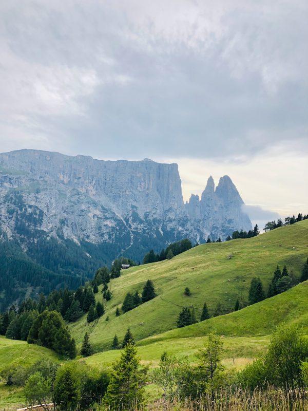 sawtooth dolomites in South Tyrol