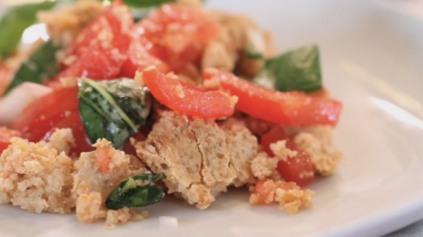panzanella: clever use of stale bread