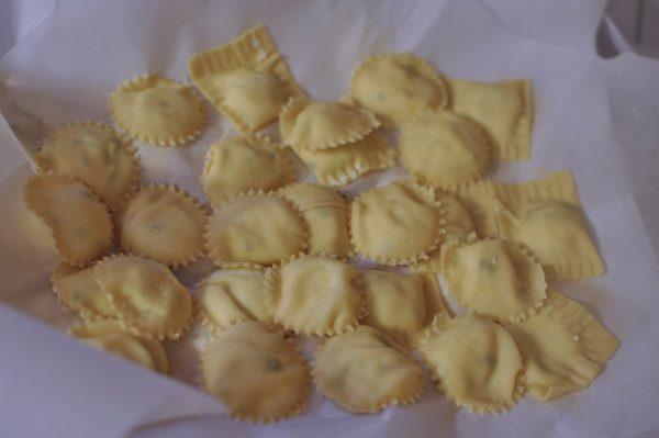 fresh pasta: ravioli