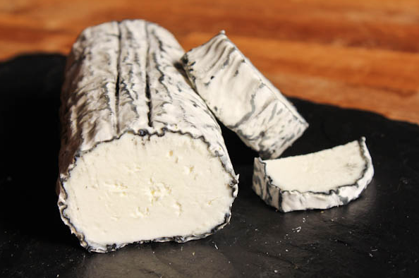 cylindrical goat cheese
