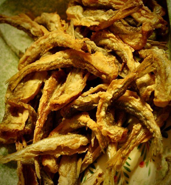fried shrimp and smelts