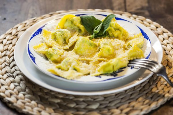 tortelli filled with zucca mantovana