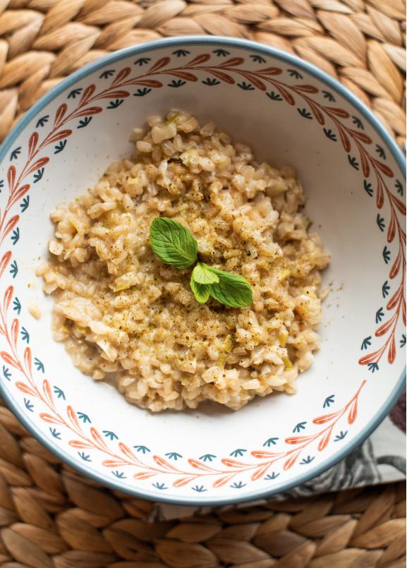 orzotto is an italian vegetarian dish
