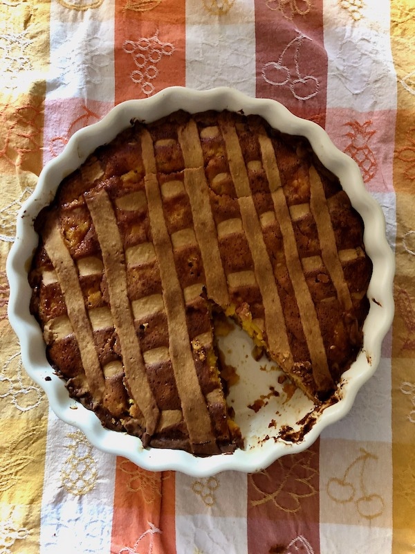pastiera Easter ricotta and wheat berry pie