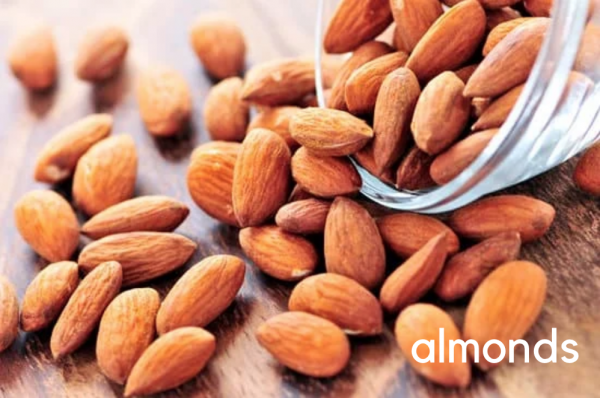 almonds are drupe seeds