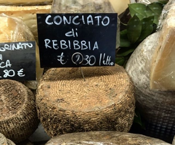 conciato di rebibbia is another of our favorite summer cheeses
