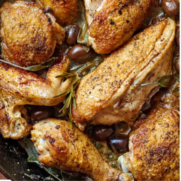 Pollo alla cacciatora aka chicken cacciatore for June and July online classes