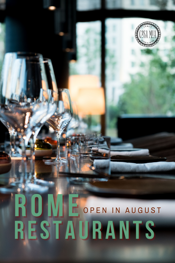 rome restaurants open in august 2021