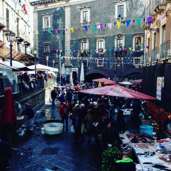 the fish market in Catania, Sicily
