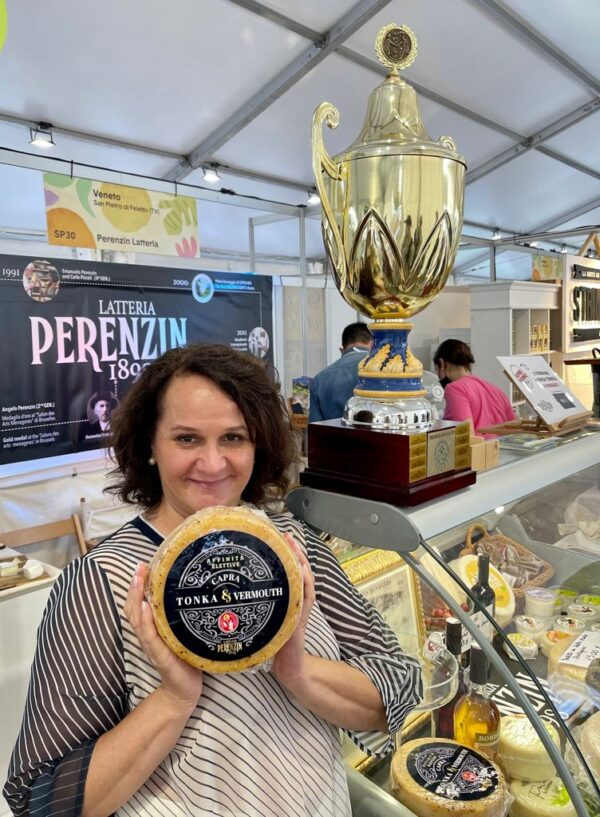 Latteria Perenzin's tonka bean and vermouth-aged cheese at the festival